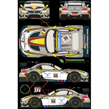 BMW Z4 GT3 66, 77 24 Horas...
