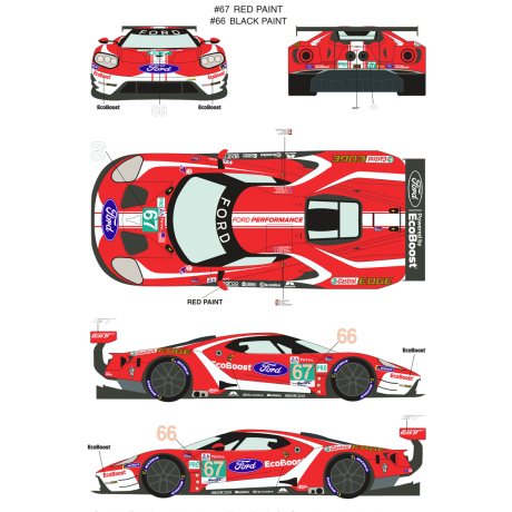 Ford GT 66/67 24 Horas Le Mans 2019