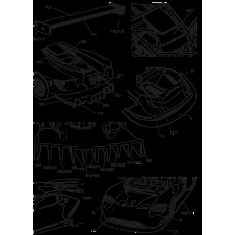 RDC24/003 - Fibra de Carbono para Ford GT LM