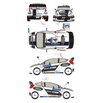 Ford Fiesta WRC 3 / 4 Rally...