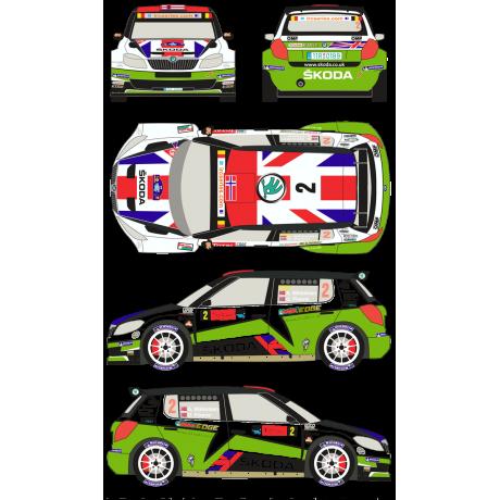 Skoda Fabia S2000 2 Rally Geko Ypres 2012