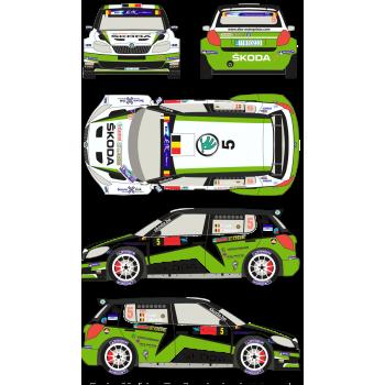 Skoda Fabia S2000 5 Rally...