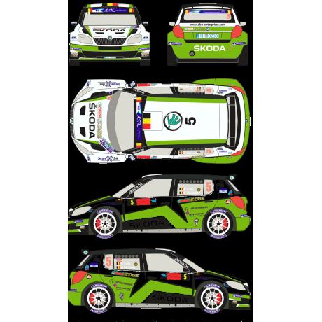 Skoda Fabia S2000 5 Rally Geko Ypres 2013